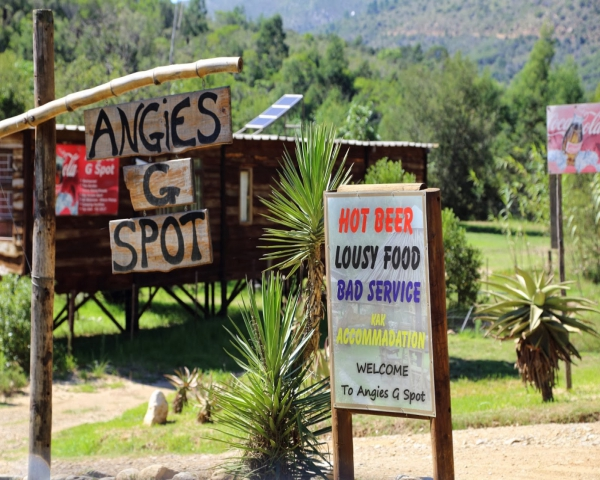 Angie 39 s g spot pub bar western cape garden route for Angie s african cuisine
